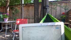 Computer in a hammock thanks to virtual desktops - Toronto IT support services