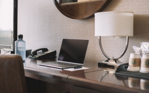 Computer in hotel room because it has remote access - Inderly IT (Toronto)